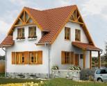 Одноэтажные дома с мансардой — проекты фото планировка