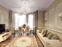 Современный дизайн светлой гостиной