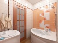 Современный дизайн проект ванной комнаты