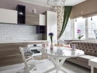 Шторы на кухню в современном стиле фото, как выбрать на два окна