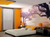 Как выбрать фотобои 3D на стену в спальню, дизайн, фото примеров
