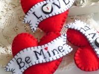 Красивые сердечки из фетра своими руками ко дню святого Валентина