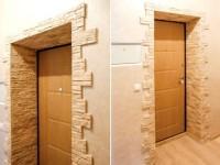 Как сделать и оформить откосы входной двери внути квартиры своими руками?