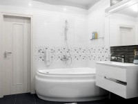 Современная белая ванная комната. 75 фото идей дизайна ванной в белых тонах