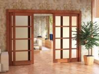 Раздвижные межкомнатные двери: устройство, конструкция