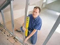 Как сделать перегородку из гипсокартона — монтаж на металлическом корпусе