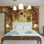 Обои для спальни фото в интерьере для маленьких комнат - 11