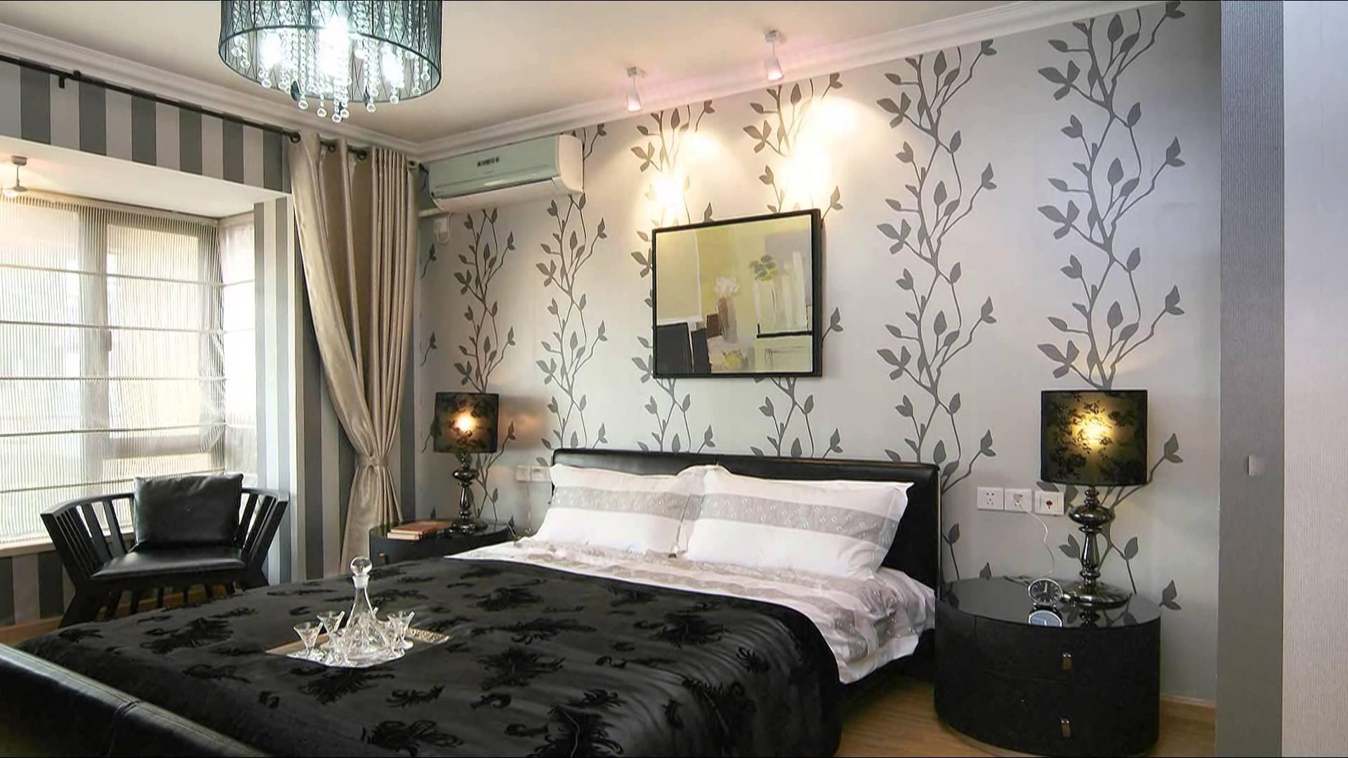 Обои для спальни фото в интерьере для маленьких комнат - 30