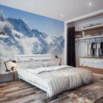 Обои для спальни фото в интерьере для маленьких комнат - 8