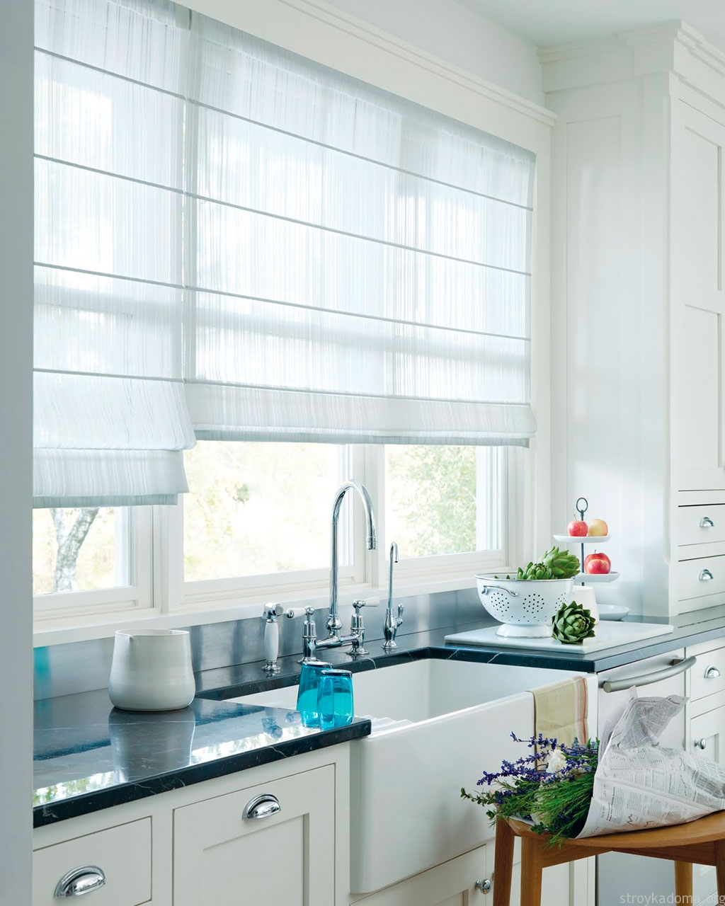 Современные тренды шторы для кухни - 1