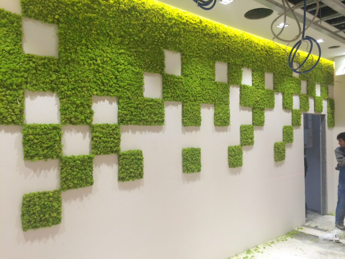 озеленение мохом 6