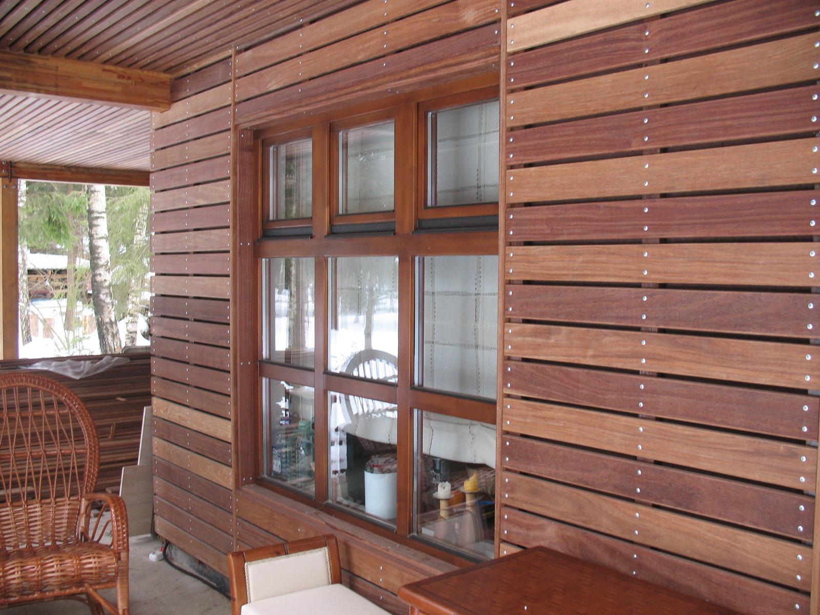 Отделка деревянного дома снаружи вагонкой