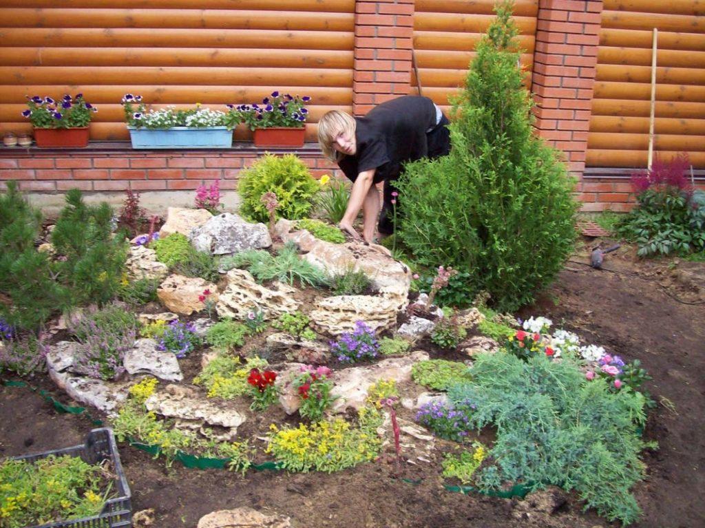 Горка своими руками на садовом участке