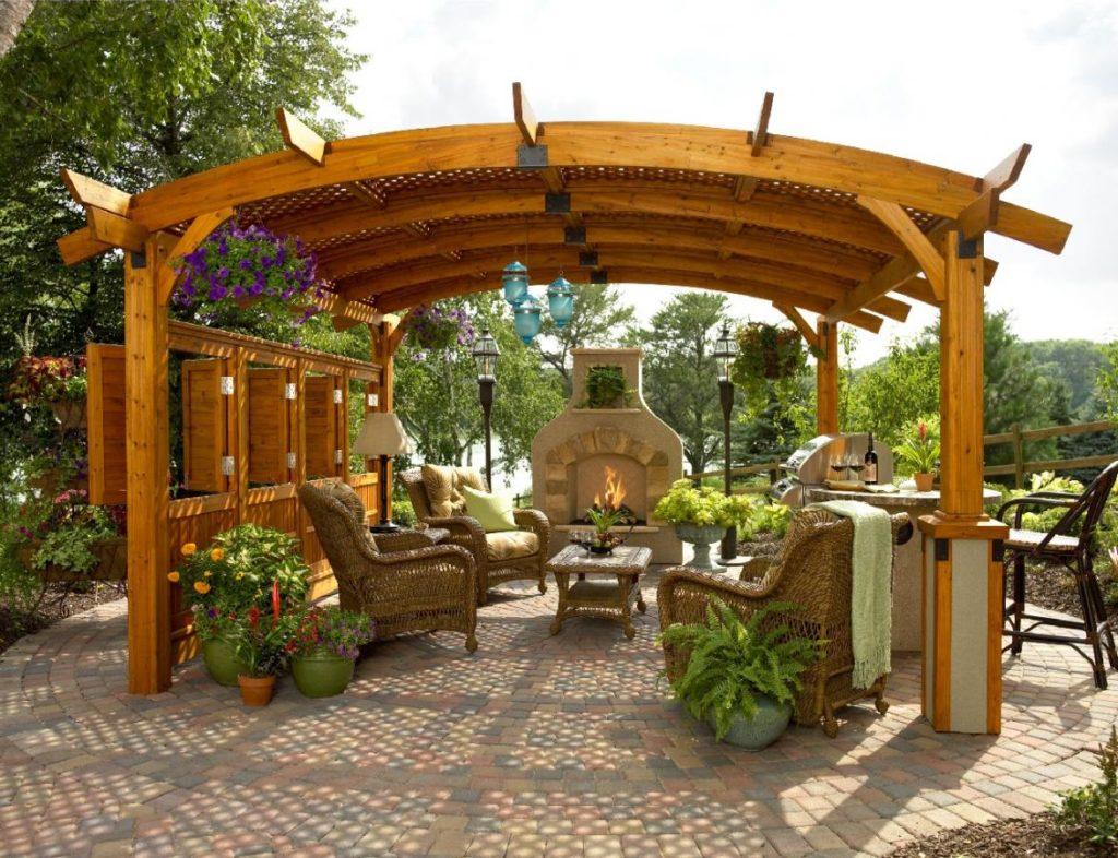 Фото садовых беседок фото