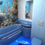 Дизайн ванной комнаты, фото 4 кв. м с туалетом и стиральной машиной