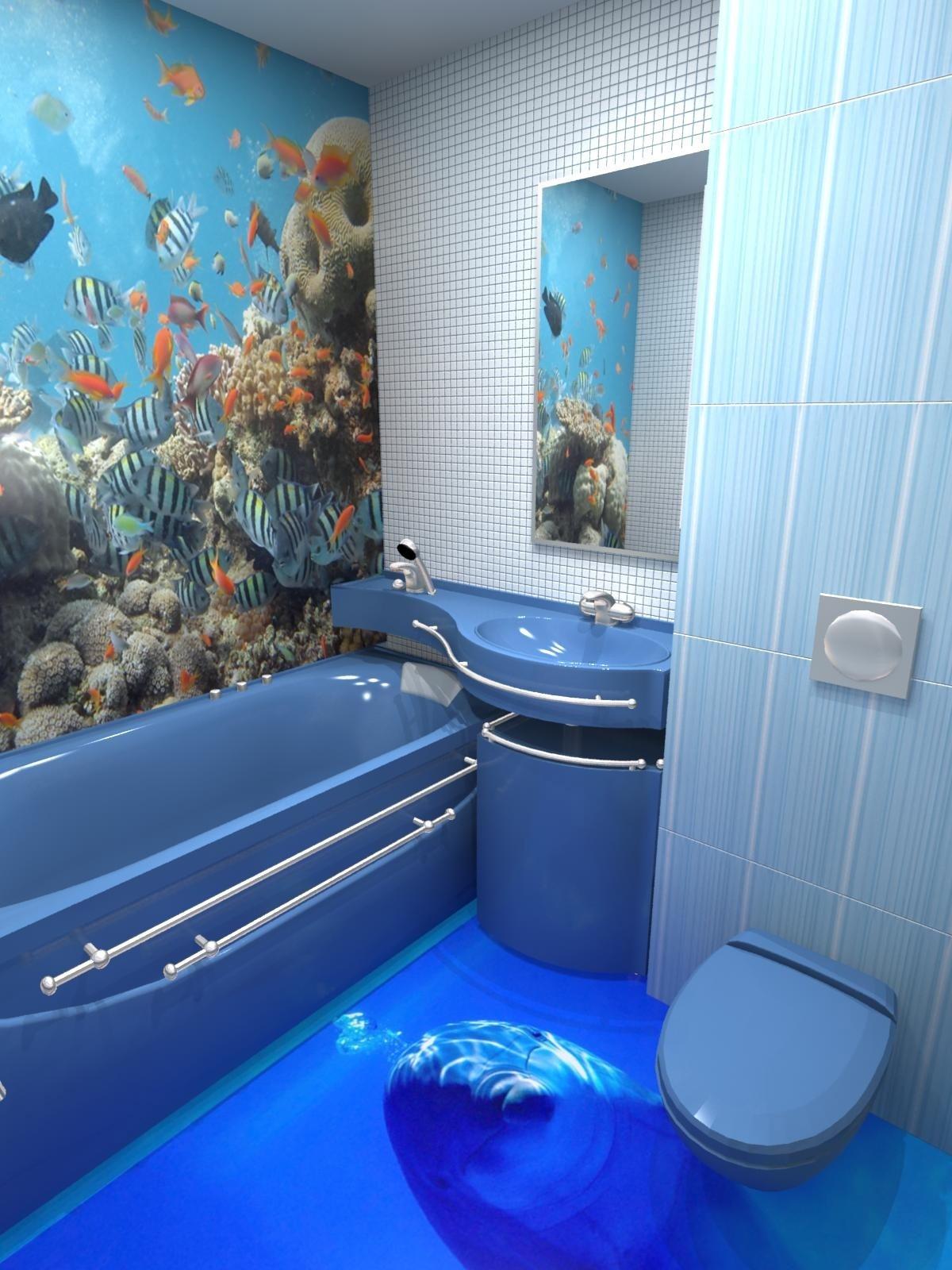 Дизайн ванной комнаты, фото 4 кв. м