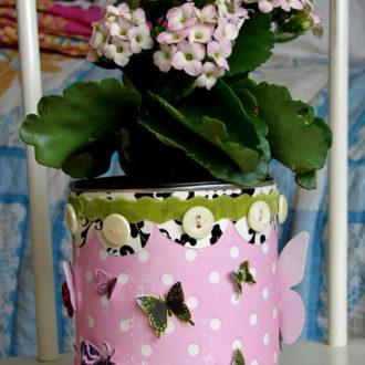 Как украсить цветочный горшок