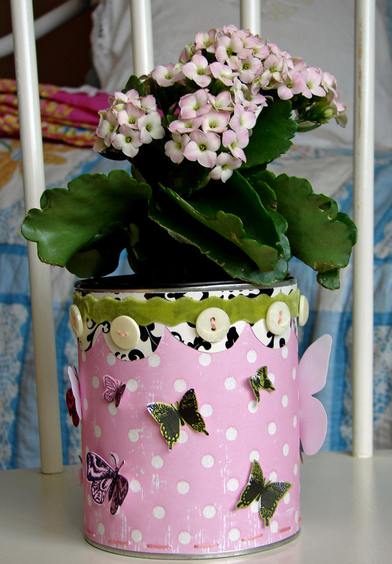 Как украсить цветочный горшок своими руками фото 584