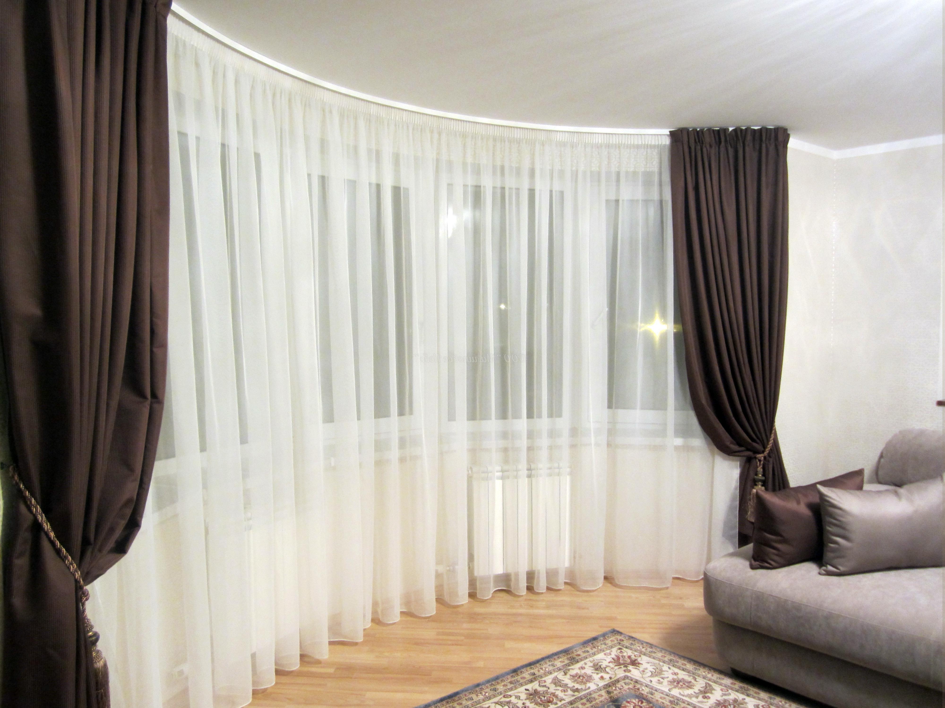 Классический дизайн штор в гостиную 4