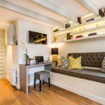 Дизайн интерьера однокомнатной квартиры 40 кв.м — 100 фото идей в современном стиле