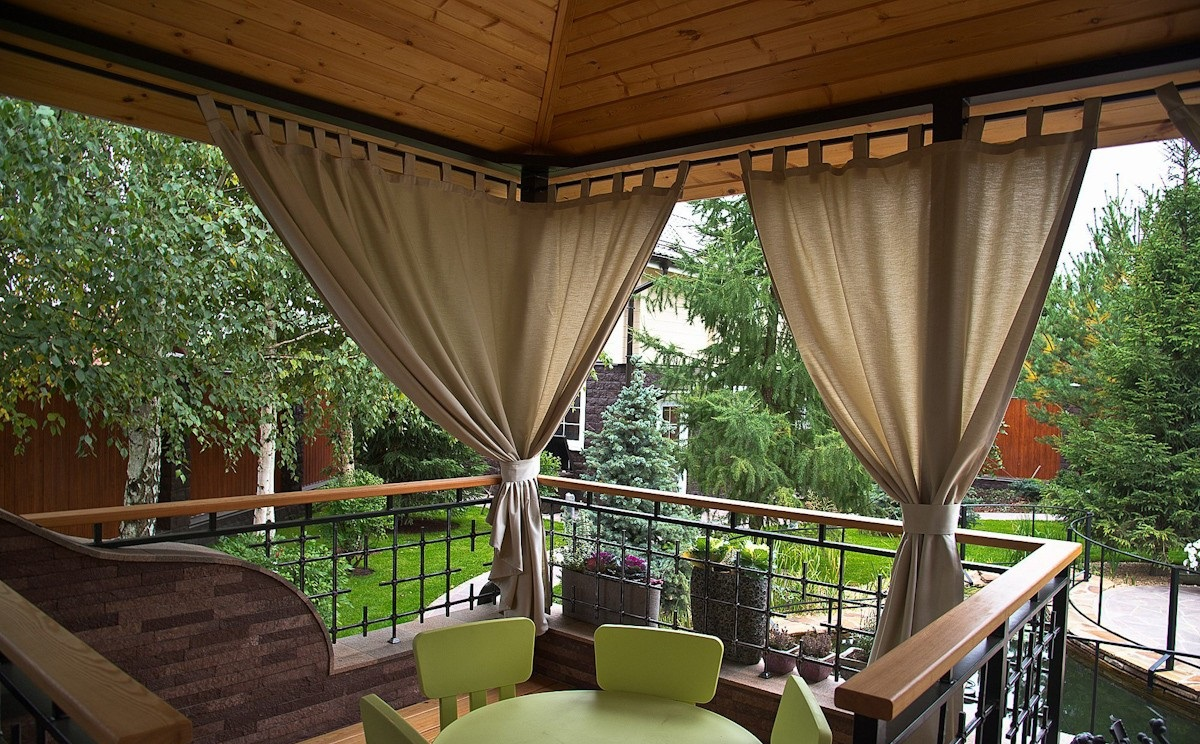 Непромокаемые шторы для беседки своими руками с
