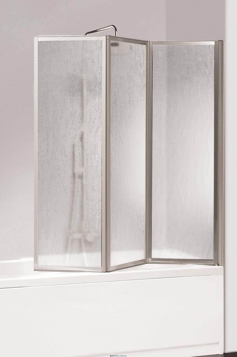 Раздвижной вид штор из пластика для ванной 6