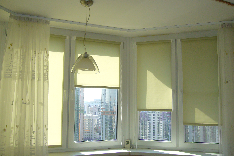 Рулонные или римские шторы
