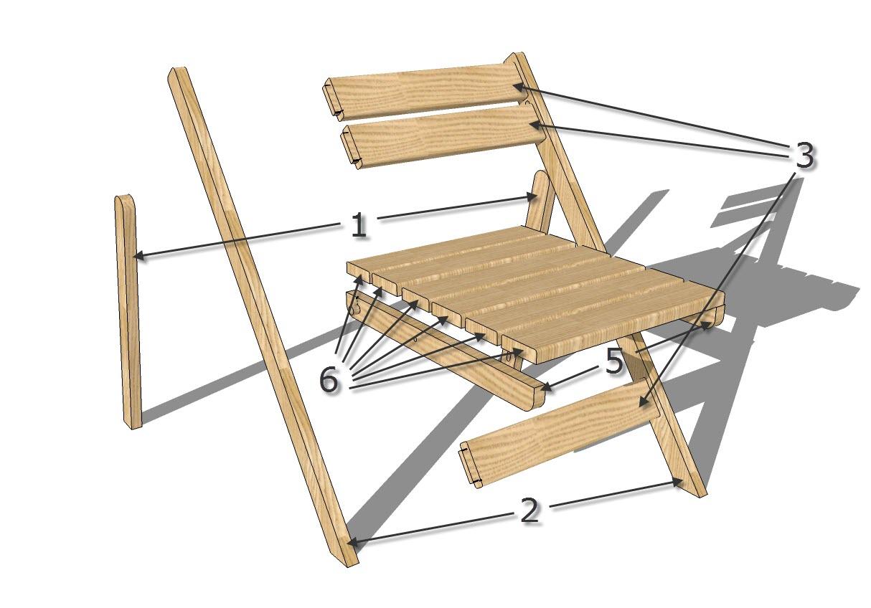 Сделать складной стул