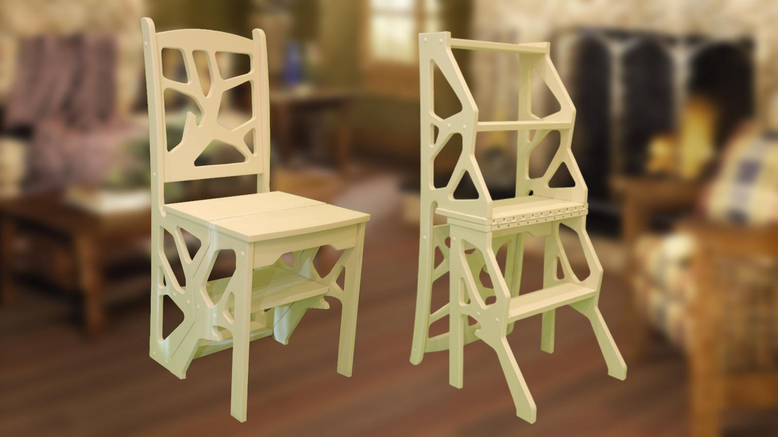 Складной стул своими руками из натурального дерева