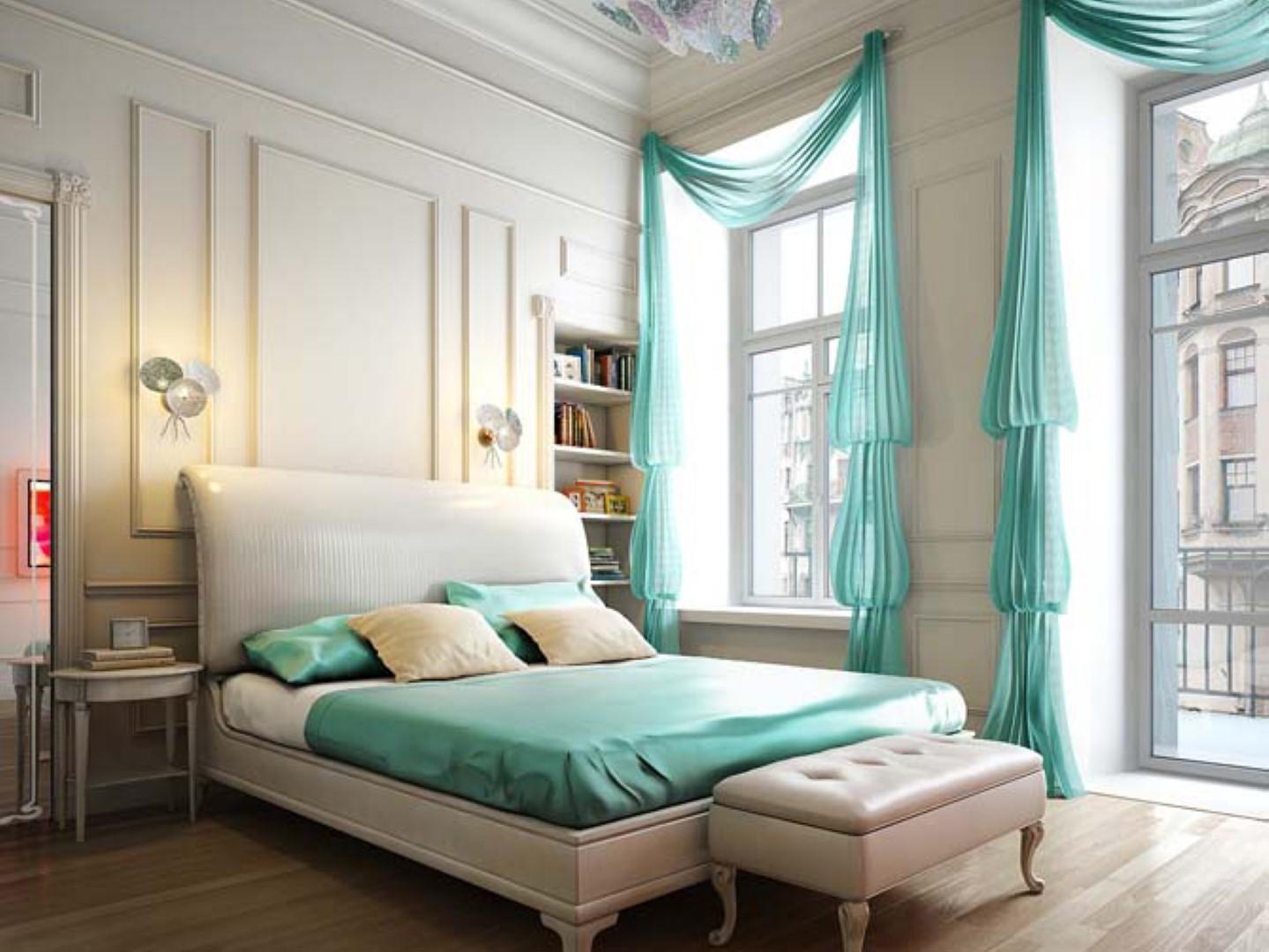 Шторы в современную спальню - 1