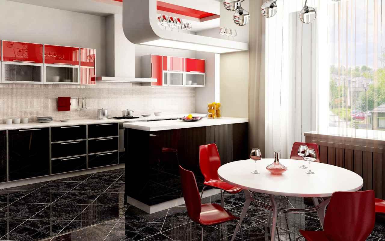 Шторы для кухни с балконом - 2