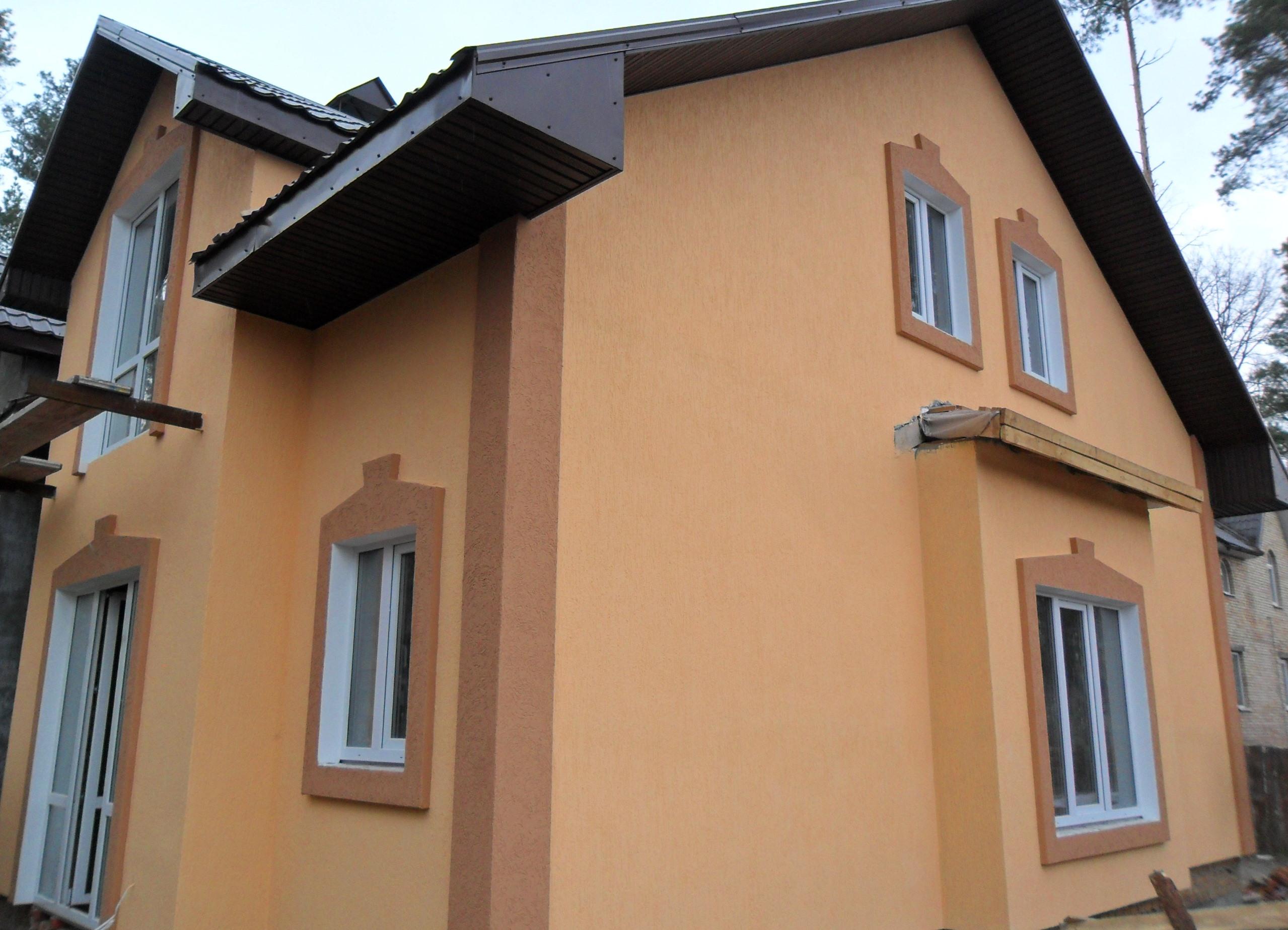Штукатурка фасадной части дома - 1