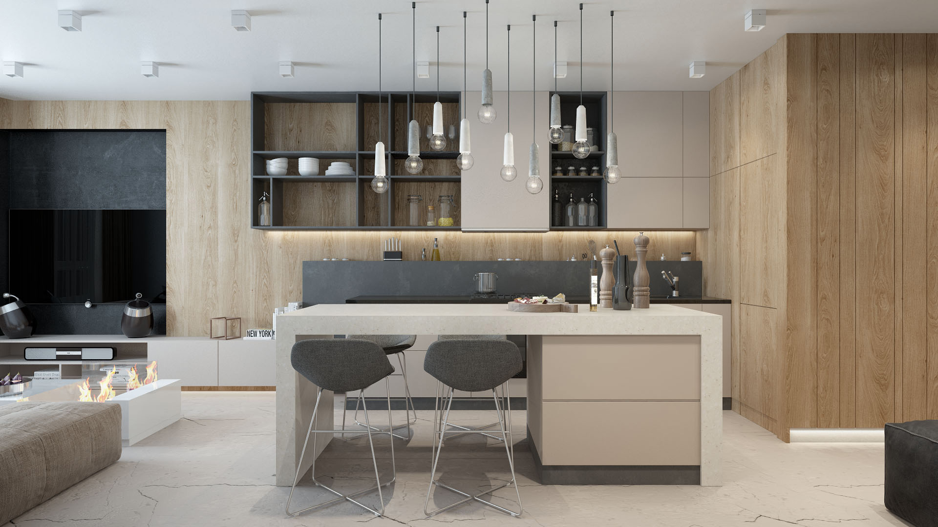дизайна квартиры 60 кв. м 12