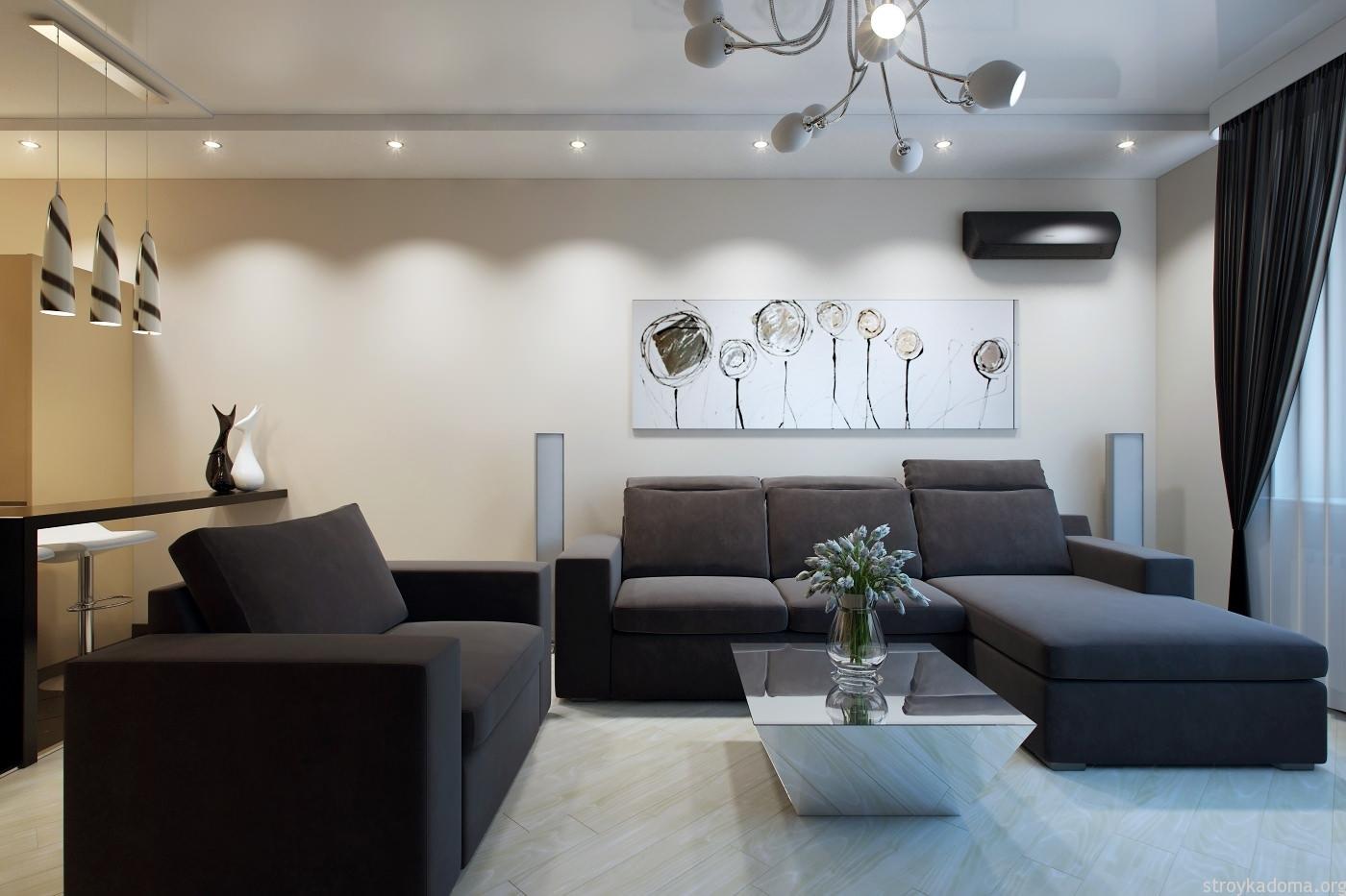 Дизайн трехкомнатной квартиры – творчество без границ