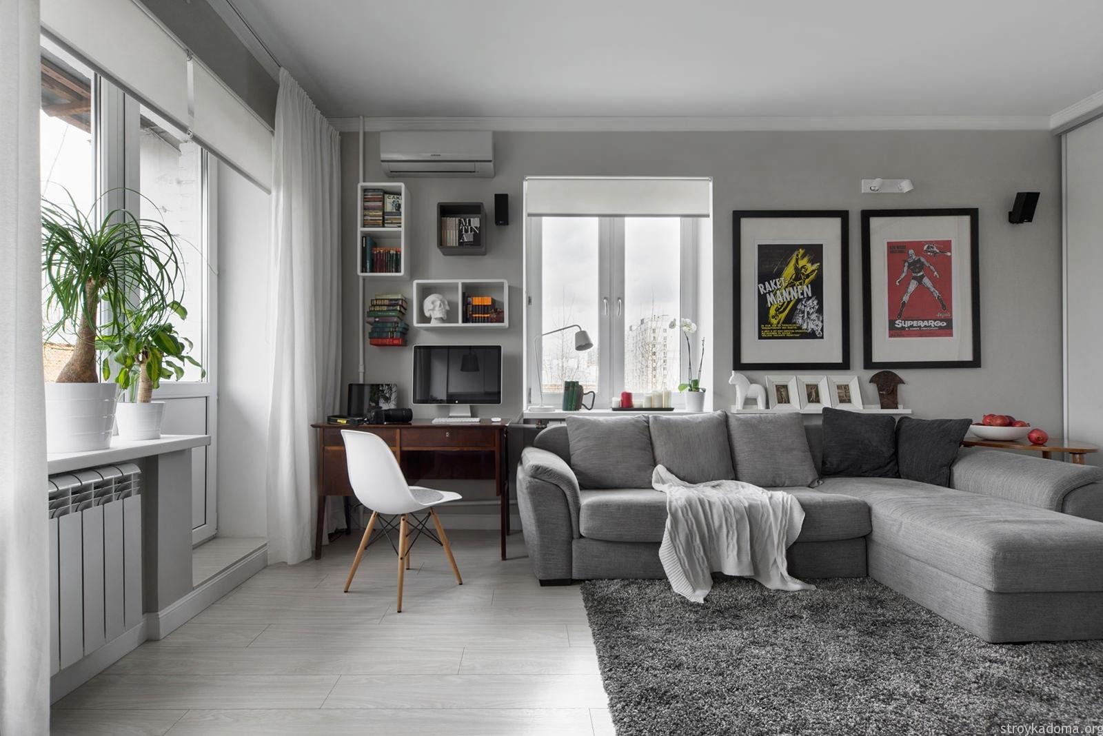 дизайн квартиры студии 60 кв.м фото