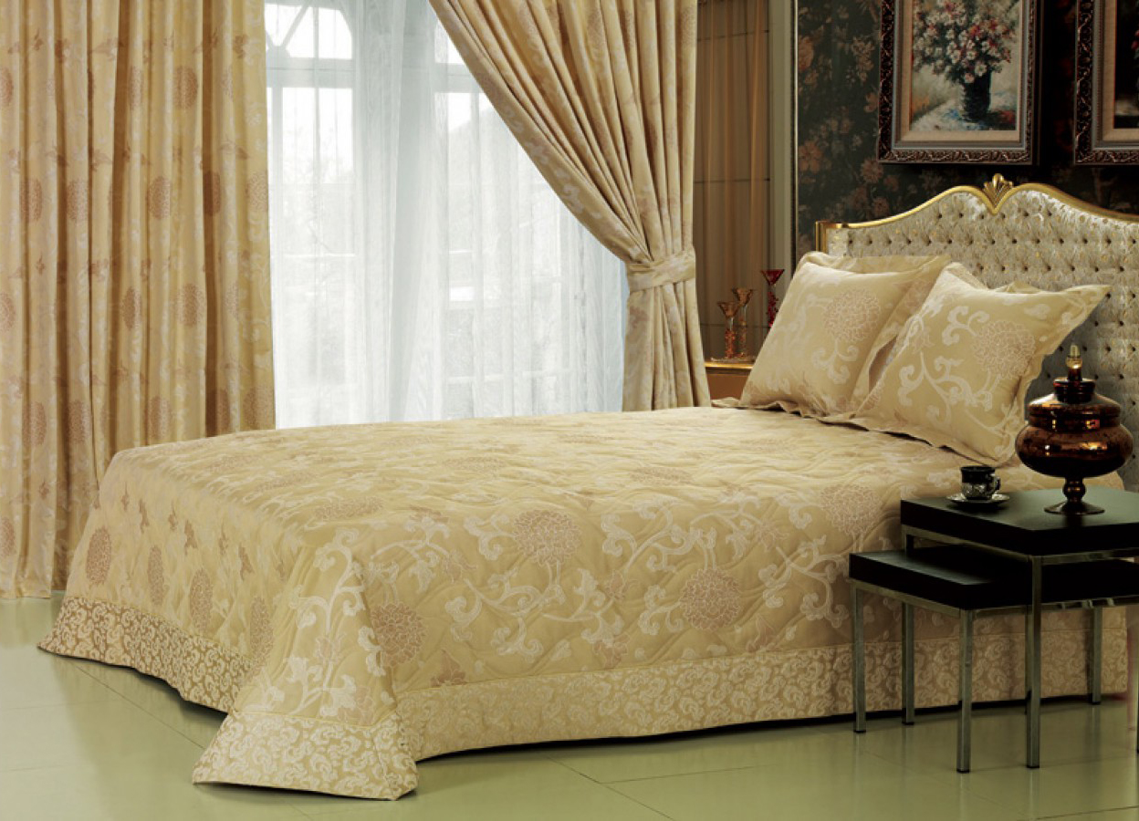 хлопковые шторы для спальни