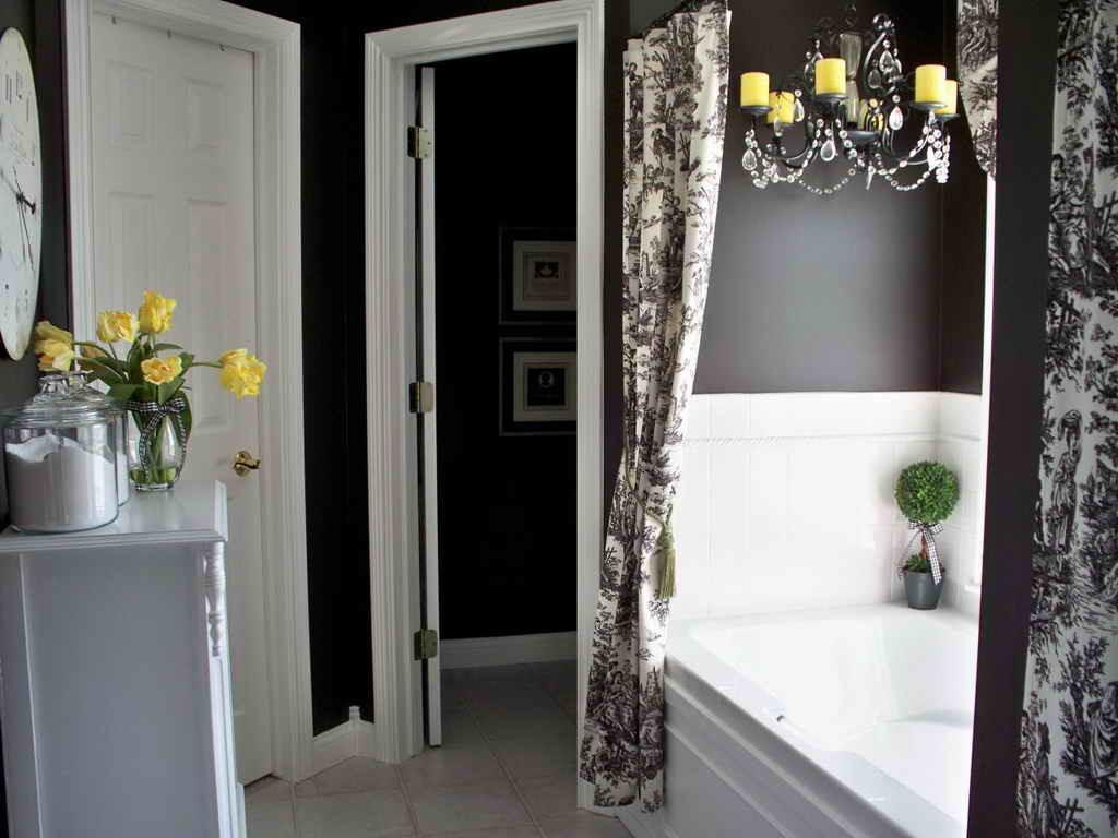 фото шторы в ванной комнате