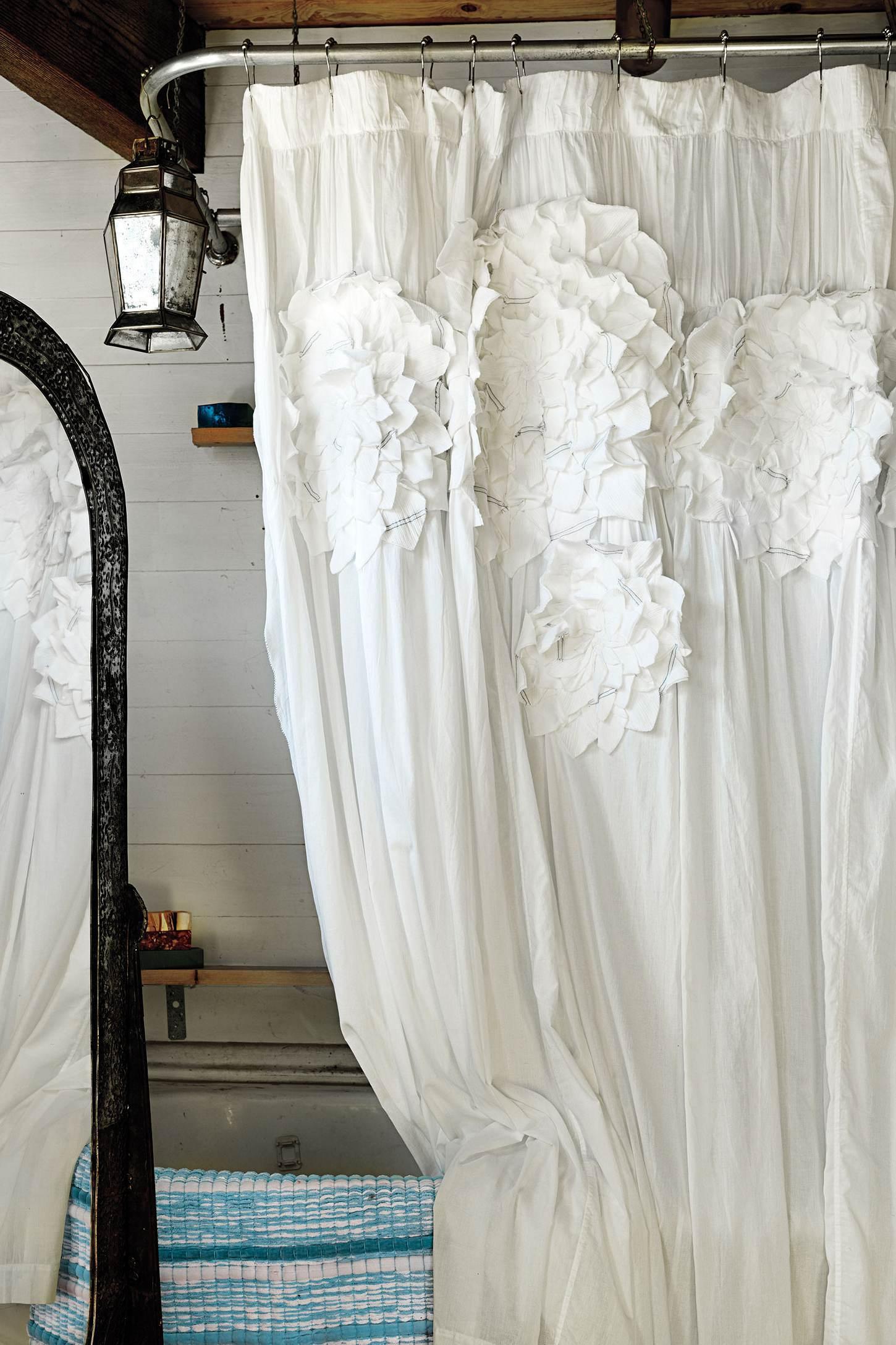 шторы из таки для ванной