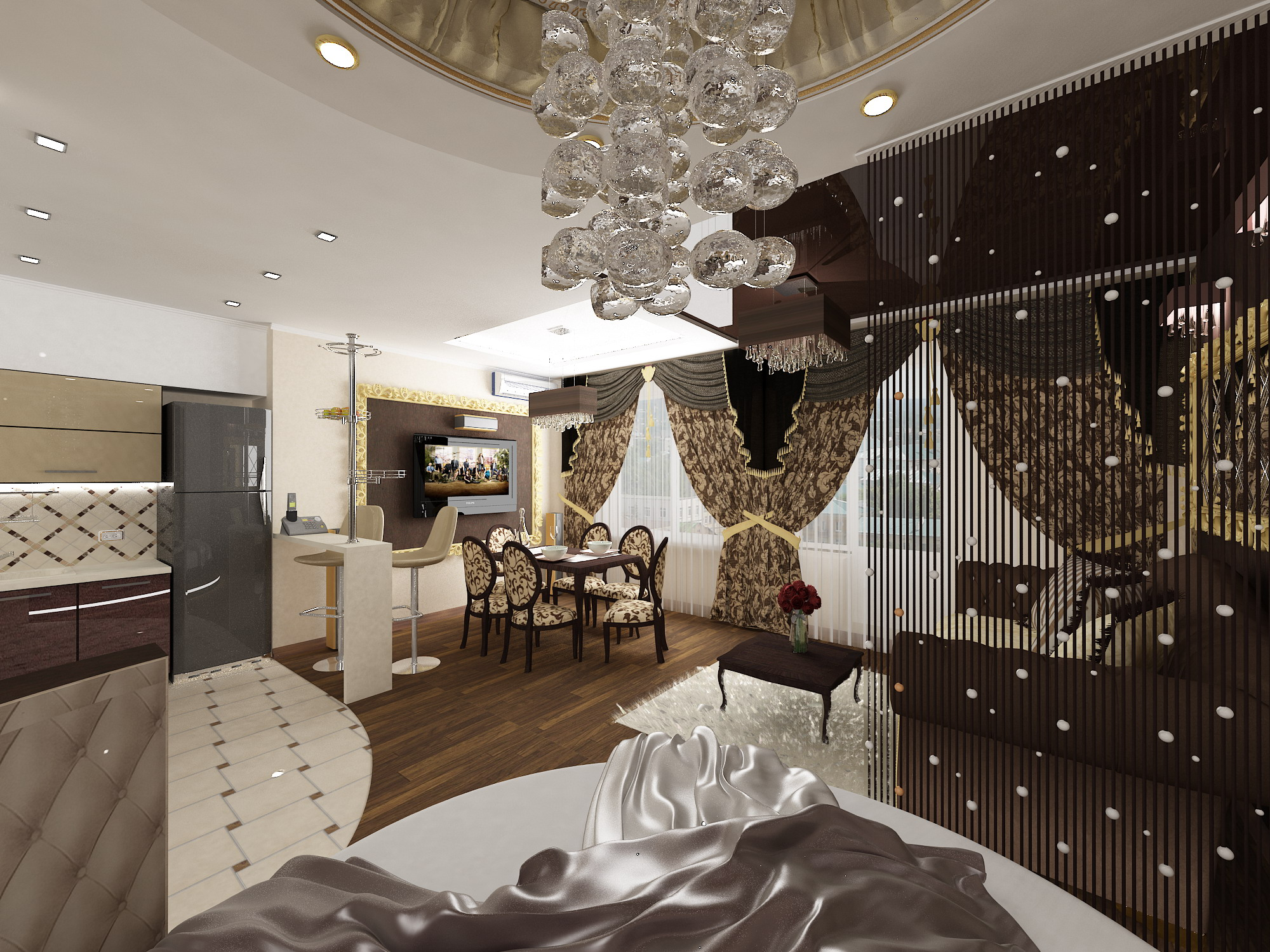 Дизайн двухкомнатной квартиры 60 кв.м с детской