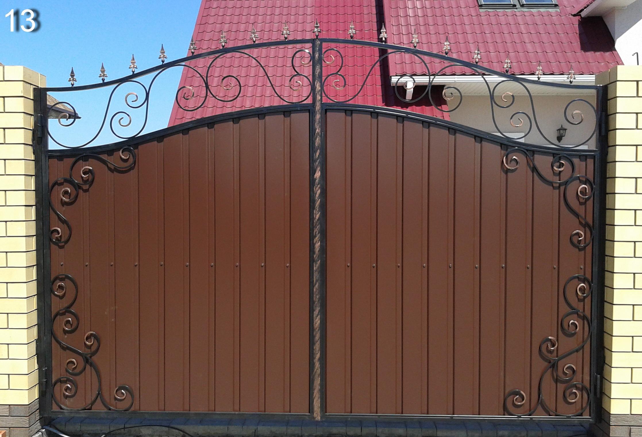 Какие можно сделать ворота фото ворота 24 киев