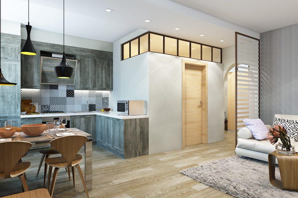 Дизайн интерьера 2 комнатной квартиры 60 кв.м фото