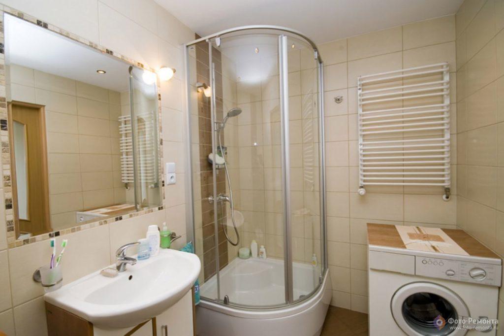Дизайн ванной комнаты 4 кв.м с туалетом