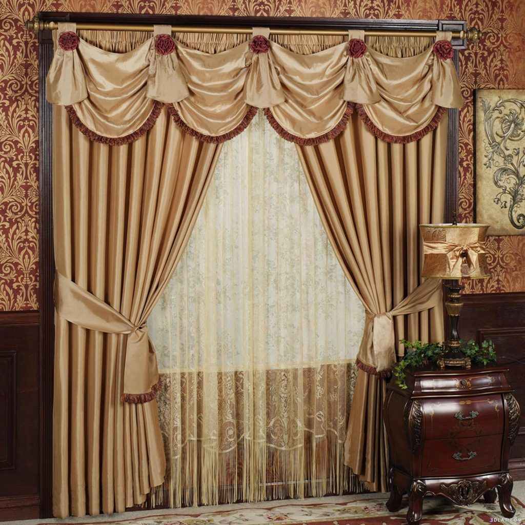 Как сшить комбинированные шторы в гостиную 98