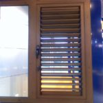 Modern-fashion-aluminum-window-louver-wood-color