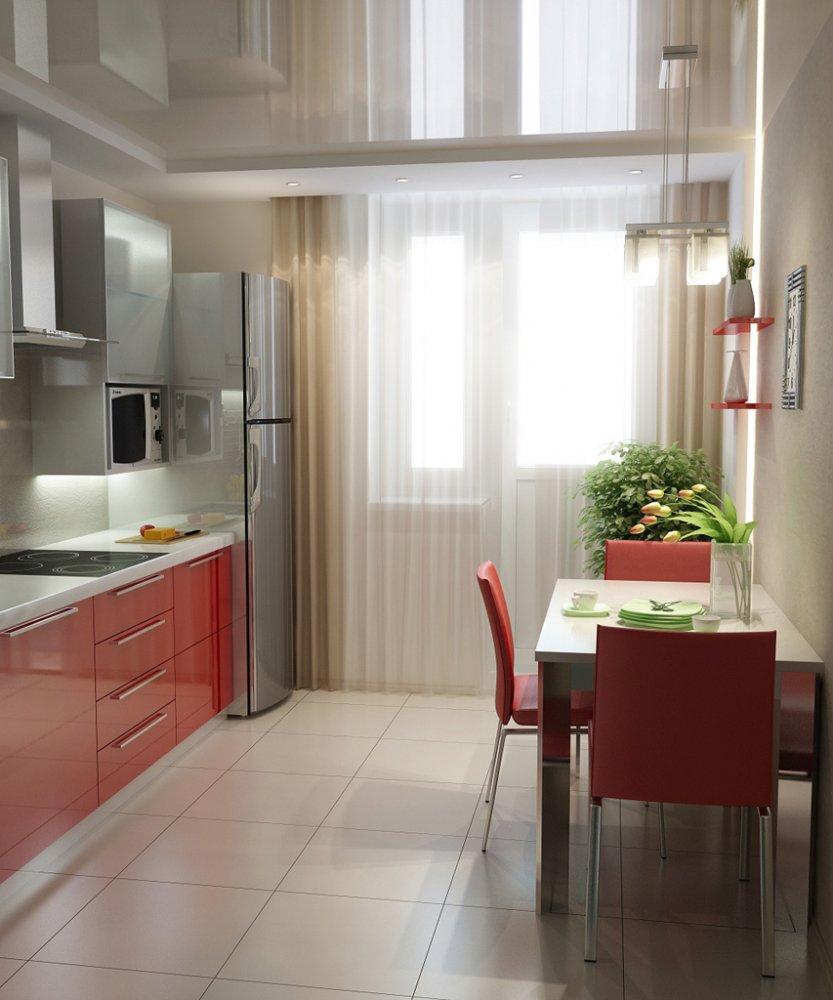 Шторы на кухню с балконом - 50 фото идей оформления штор в к.