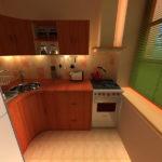 Дизайн-кухни-в-однокомнатной-хрущевке