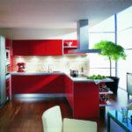 Дизайн-кухни-красного-цвета
