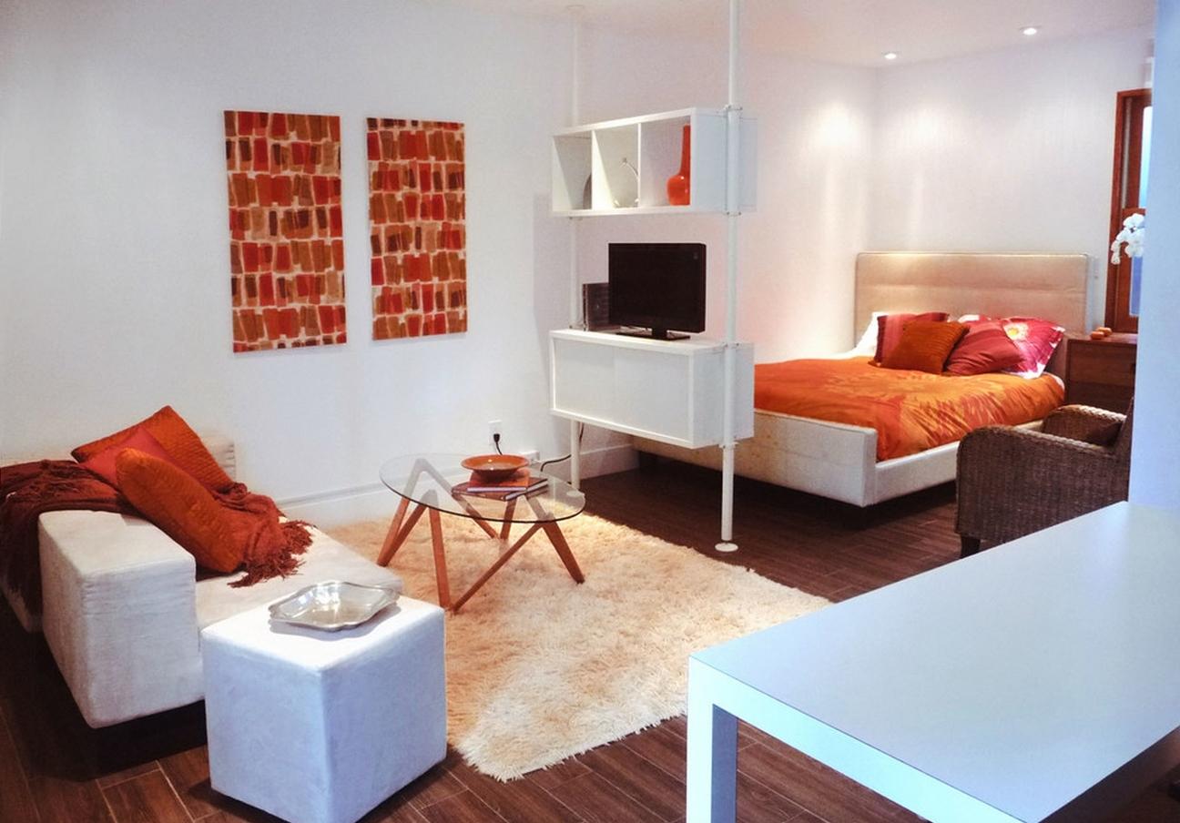 Зонирование комнаты на гостиную и спальню 2