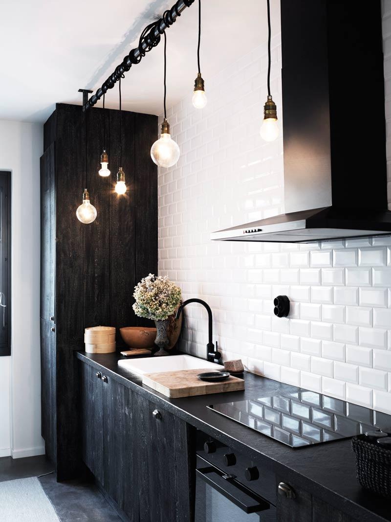 Черный цвет кухни ИКЕА