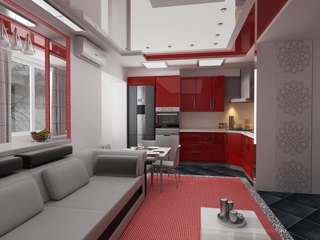 Гостиная кухня 21 кв м дизайн